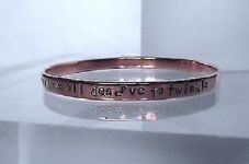 "Lovely Handmade Copper Personalise Inspirational ""we are all stars...."" Bangle"